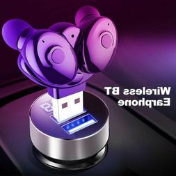 USB TWS Wireless Bluetooth 5.0 Earbuds In-Ear Stereo Earphon