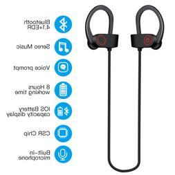 Waterproof Sports Bluetooth Headset Beats Wireless in Ear Ea