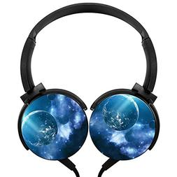 Wired Headset Universe Planets Portable Headphones Stereo Ea