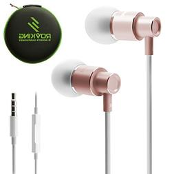 ROVKING Wired Metal Earbuds in Ear Headphones with Mic and C