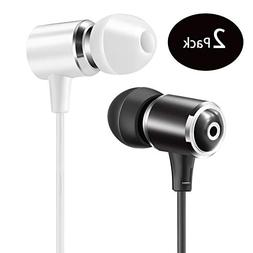 Senhomtog Wired Metal Earphones with Microphone, Classic Hea