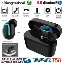 Wireless Bluetooth 5.0 Earbuds Single Headphones Stereo Mini