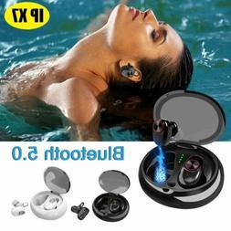 Wireless Bluetooth 5.0 Earbuds Sports Headset Twins IPX7 Wat