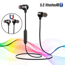 Wireless Bluetooth 5.0 Headphone Stereo Bass Sports Earbuds