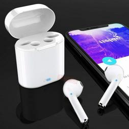 Wireless Bluetooth Earbuds Headphones For iPhone w/Charging