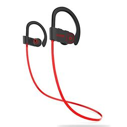 Wireless Bluetooth Earbuds Headphones +Mic Sport Gym Running