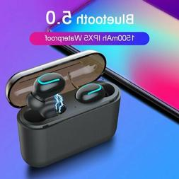 wireless bluetooth headset headphone stereo single earphone