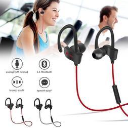 Wireless Bluetooth Headset Headphones Sport Sweatproof Stere