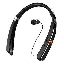 Wireless Bluetooth Headset, EGRD Foldable Retractable Neckba