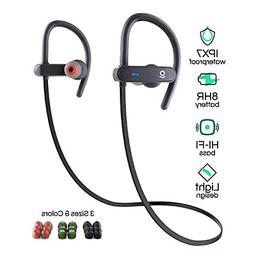 Wireless Bluetooth Sport Earbuds for Running, Workouts, and