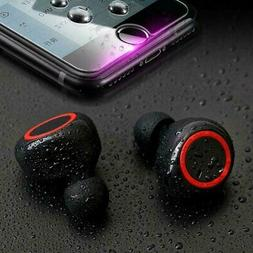 Wireless Earbuds Sweatproof Bluetooth 5.0 TWS In Ear Mic Ste
