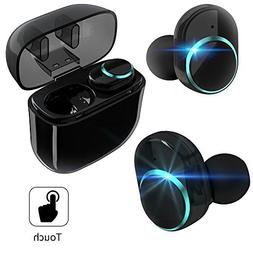 True Wireless Earbuds,Bluetooth Headphones TWS Touch Control