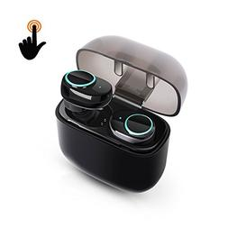 Wireless Earbuds, Touch Control Bluetooth Headset Noise Canc