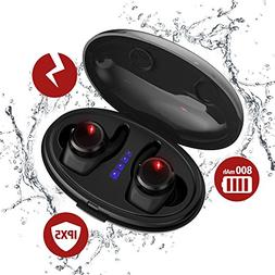 True Wireless Earbuds with Qi-Enabled Wireless Charging Case