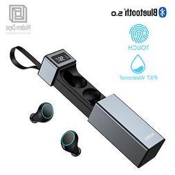 Wireless Earbuds, Bluetooth 5.0, Stereo HiFi Earphones w/ bu