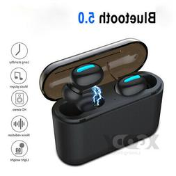 Wireless Earbuds Bluetooth v5.0 Stereo Headset TWS Mini In-E