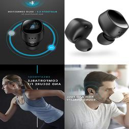 Wireless Earbuds Bluetooth V5.0 W Solid Connection & Powerfu