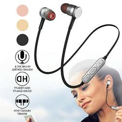 Wireless Stereo BT Headset Sports Earphone Earbuds Headphone