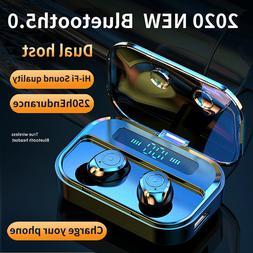 Wireless Stereo Earphones Bluetooth 5.0 Earbuds 8D HD Sports