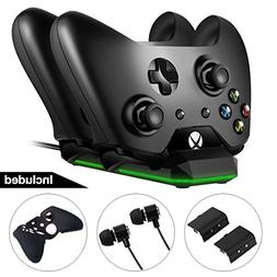 Opard Xbox One Controller Charger Station Game Kit with Dual